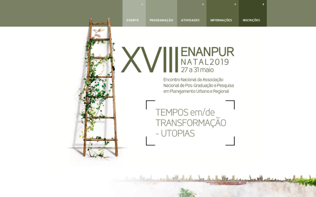 XVIII ENANPUR NATAL 2019 | 27 a 31 de Maio 2019
